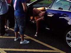 Dogging Show for 5 Lads in a Car Park