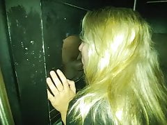 Blond Wife's Black Cock Gloryhole Experience