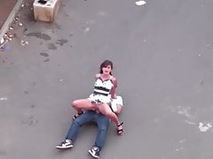 I filmed dog and bitch having wild sex in middle street