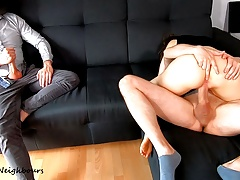 Cuckold Husband Watches His Young Wife Creampied And Licked